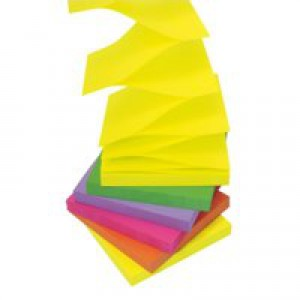3M Post-it Z-Notes 76x76mm Assorted Neon Rainbow Code R330NR