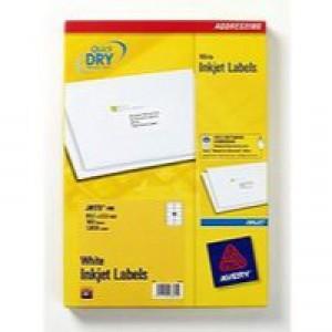 Avery Quick DRY Addressing Labels Inkjet 10 per Sheet 99.1x57.0mm White Ref J8173-100 [1000 Labels]