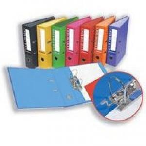 Rexel Colorado Lever Arch File Plastic 80mm Spine A4 Orange Ref 28146EAST [Pack 10]