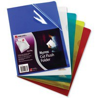 Image for Rexel Nyrex Folder Cut Flush A4 Assorted Ref 12161AS [Pack 25]