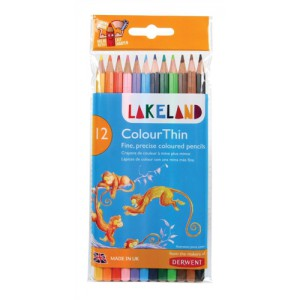 Lakeland Colourthin Colouring Pencils Hexagonal Barrel Hard-wearing Assorted Ref 0700077 [Pack 12]
