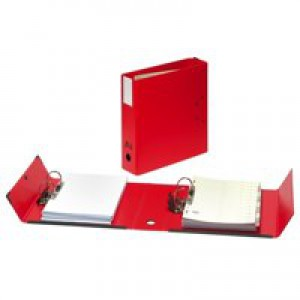 BDS Arianex Double Capacity Lever Arch Files File with A-Z Dividers 2x50mm Spines A4 Red Code DA4-RD