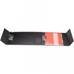Arianex Double Capacity Lever Arch Files File with A-Z Dividers 2x50mm Spines A4 Black Ref DA4-BK
