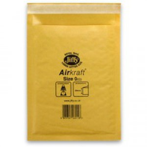Jiffy Airkraft Bubble Bag Envelopes No.0 Gold 140x195mm Ref JLGO0 [Pack 100]