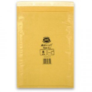 Jiffy Airkraft Bubble Bag Envelopes No.3 Gold 205x320mm Ref JL-GO-3 [Pack 50]