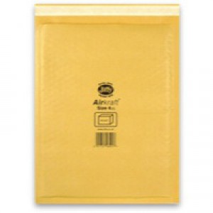 Jiffy Airkraft Bubble Bag Envelopes No.4 Gold 230x320mm Ref JL-GO-4 [Pack 50]