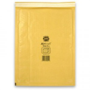 Jiffy Airkraft Bubble Bag Envelopes No.5 Gold 260x345mm Ref JL-GO-5 [Pack 50]