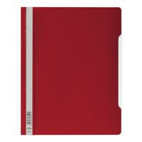 Durable Clear View Folder Plastic with Index Strip Extra Wide A4 Red Ref 257003 [Pack 50]