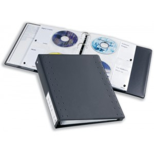 Durable CD and DVD Pocket for Index 40 Ring Binder Capacity 4 Disks A4 Clear Ref 5222/19 [Pack 5]