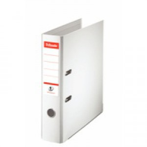 Esselte No. 1 Power Lever Arch File PP Slotted 75mm Spine A4 White Ref 811300 [Pack 10]