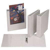 Esselte Presentation Ring Binder Polypropylene 2 D-Ring 25mm Size A4 White Ref 49737 [Pack 10]