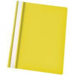 Esselte VIVIDA Report Flat File A4 Yellow Plastic With Clear Front Box 25