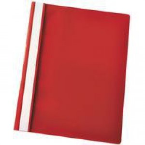 Esselte VIVIDA Report Flat File A4 Red Plastic With Clear Front Box 25