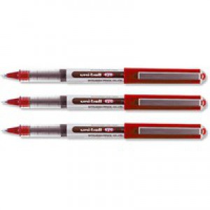 Uni-Ball UB-150 Eye Rollerball Pen Micro 0.5mm Tip 0.2mm Line Red Code 9000502
