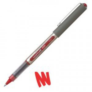Uni-ball Eye UB157 Rollerball Pen Fine 0.7mm Tip 0.5mm Line Red Ref 9000702 [Pack 12]