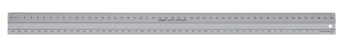 Linex Hobby Cutting Ruler Anti-slip Light Aluminium 1 Bevelled Side 1 Plain Side 50cm Ref LXE2950M