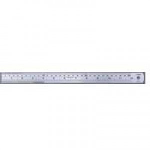 Linex Ruler Stainless Steel Imperial and Metric with Conversion Table 1000mm Ref Lxesl100