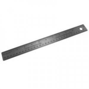 Linex Ruler Stainless Steel Imperial And Metric With Conversion Table 300mm Code LXESL30