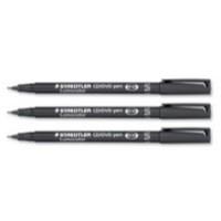 Staedtler Lumocolor CD/DVD Marker Pens Line 0.4mm Black Ref 310CDS9 [Pack 10]