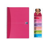 Oxford Office Notebook Wirebound Soft Cover Ruled 180pp 90gsm A5 Pearl Assorted Ref 100101291 [Pack 5]