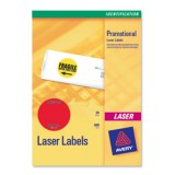 Avery Neon Round Labels Red L7670R-25