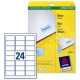 Laser Labels Blue 63.5x33.9 L6032-20