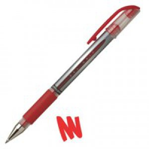 Uni-ball UM151S SigNo Gel Rollerball Comfort Grip 0.7mm Tip 0.5mm Line Red Ref 9003952 [Pack 12]