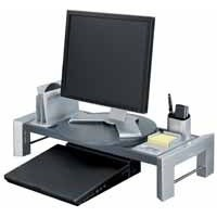 Fellowes Professional Series Workstation for Flat Panel Adjustable 3 Heights 22kg Load H140mm Ref 8037401