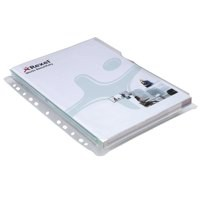 Rexel Nyrex Pocket Punched 4-Hole Full-size Top-opening Extra Capacity 250 Sheets A4 Ref 2001016 [Pack 5]
