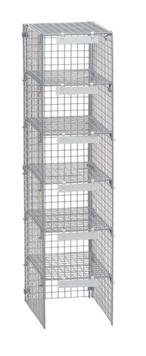 Versapak Extra Mailsorter Column Plastic-Coated Steel 6 Compartments W267xD381xH1067mm Grey Ref MSC1-GYS