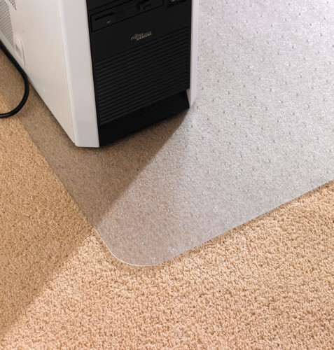 Chair Mat for Carpet Protection Anti Static with Lip 1150x1340mm Clear