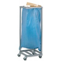 Image for Versapak Sackholder Trolley Single for Mail W400xD400xH1115mm Silver Ref SH1-C