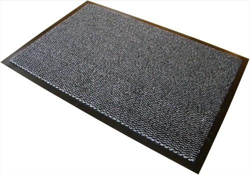 Mat on Roll Polypropylene Anti Slip Plush Pile 900x6000mm Grey