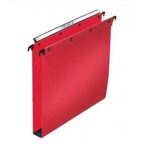 Elba Suspension File Polypropylene Vertical 350sheet 30mm Foolscap Red Ref 100330374 [Pack 25]