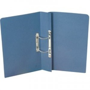 Guildhall Transfer Spring Files 315gsm Capacity 38mm Foolscap Blue Ref 348-BLUZ [Pack 50]