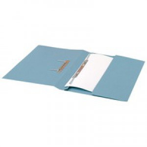 Guildhall Transfer Spring Files with Inside Pocket 315gsm 38mm Foolscap Blue Ref 349-BLUZ [Pack 25]