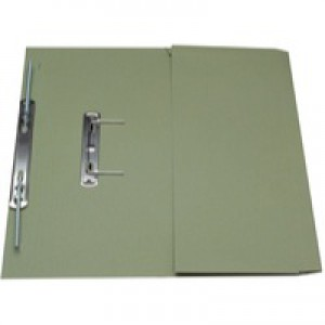 Guildhall Transfer Spring Files with Inside Pocket 315gsm 38mm Foolscap Green Ref 349-GRNZ [Pack 25]