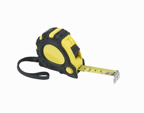 Linex Measuring Tape with Hook and Non-slip Surface Metric and Imperial with Belt Clip 5m Ref Lxemt5000