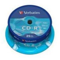 Verbatim CD-R Datalife Non-AZO 80minutes 52X Non-Printable Spindle Pack of 25 43432