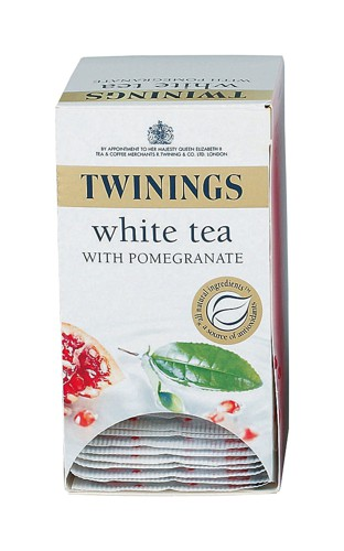 Twinings Infusion Tea Bags Individually-wrapped White Tea and Pomegranate Ref A07568 [Pack 20]