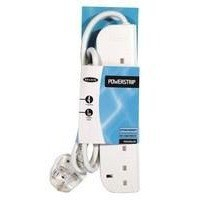 Power Surge Strip with Spike Protection 6 Way 3m White