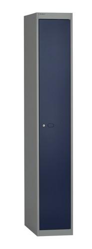 Bisley Locker Deep Steel 1-Door W305xD457xH1802mm Goose Grey/Blue Ref CLK181-7339