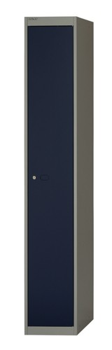 Bisley Locker Steel 1-Door W305xD305xH1802mm Goose Grey-Blue Ref CLK121-7339