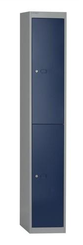 Bisley Locker Steel 2-Door W305xD305xH1802mm Goose Grey-Blue Ref CLK122-7339