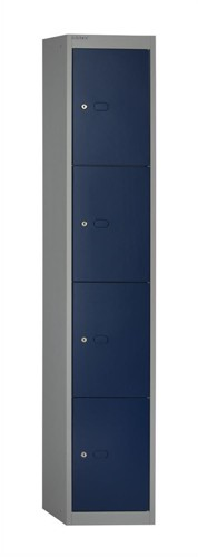 Bisley Locker Steel 4-Door W305xD305xH1802mm Goose Grey-Blue Ref CLK124-7339