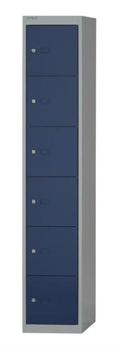 Bisley Locker Steel 6-Door W305xD305xH1802mm Goose Grey-Blue Ref CLK126-7339