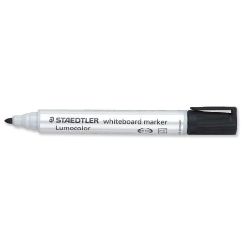 Staedtler Lumocolor Whiteboard Marker Dry-safe Bullet Tip 2mm Line Black Ref 351-9 [Pack 10]