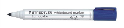 Staedtler Lumocolor Whiteboard Marker Dry-safe Bullet Tip 2mm Line Blue Ref 351-3 [Pack 10]