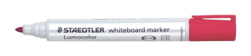 Staedtler Lumocolor Whiteboard Marker Dry-safe Bullet Tip 2mm Line Red Ref 351-2 [Pack 10]