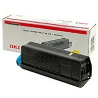 Oki C5000 Series Toner Cartridge Yellow 42127405